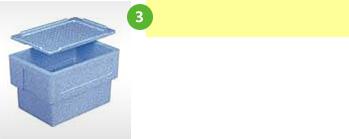 冷蔵物の梱包